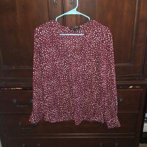 NWOT Banana Republic long sleeve blouse